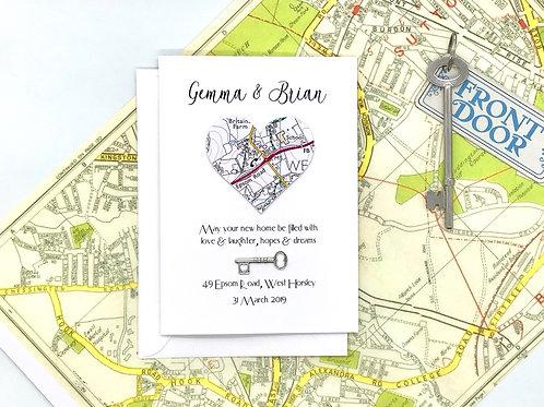 Personalised ~ New Home Card ~ Housewarming ~ First House ~ Exact Map Location ~