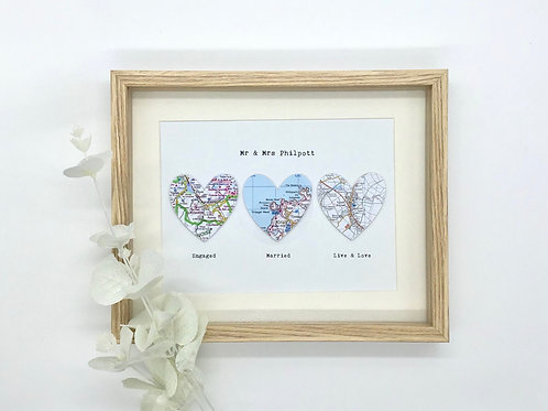 Met Married Moved ~ Wedding ~ Anniversary ~ Engagement ~ New Home ~ Exact Map Lo