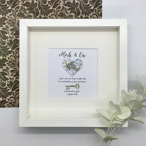 Personalised Map Location Gift, Moving Home, Memory Map
