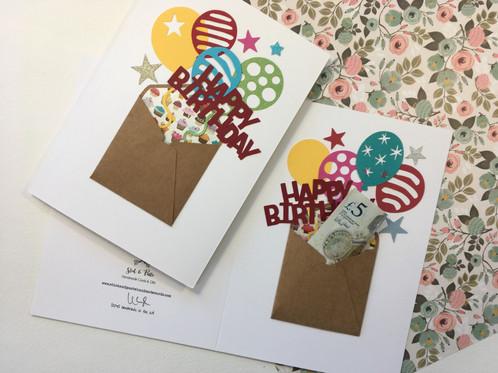 Handmade Birthday Card Envelope Gift Card
