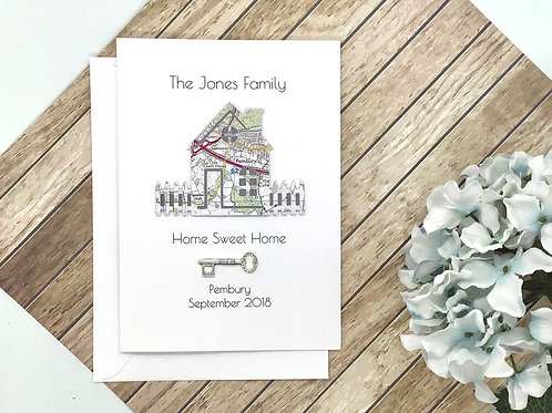 Personalised ~ New Home Card ~ Housewarming ~ Moving House ~ First Home ~ Exact