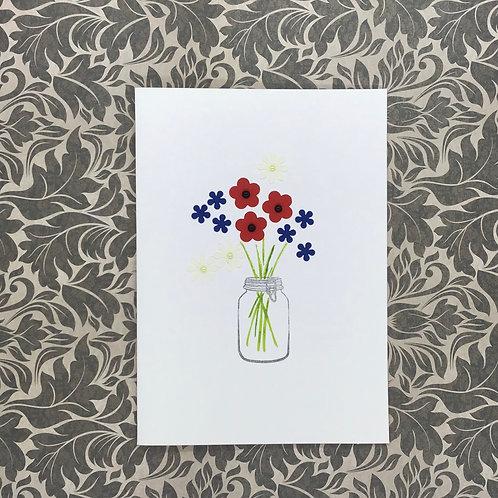 Jar of Summer Flowers