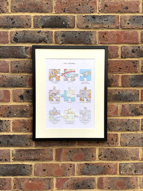 Personalised Jigsaw Pieces Wedding, Anniversary, Engagement, Birthday Gift, Memo