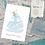 Thumbnail: Personalised Sailing Boat Card - Map Location Greeting Card - Exact location any