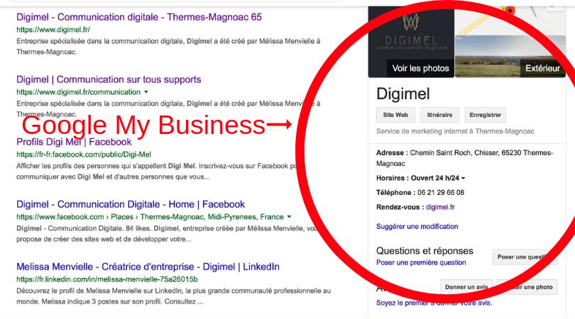 Google My Business vous permet de valoriser votre entreprise ainsi que votre site internet.