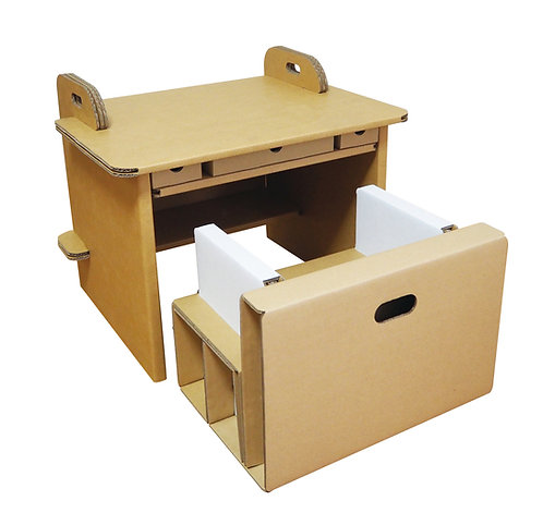 A ダンボール机・いす 引き出し付きタイプ