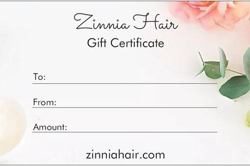 Zinnia Hair Gift Card