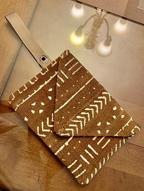 Mud Cloth Envelope Clutch (One of One)
