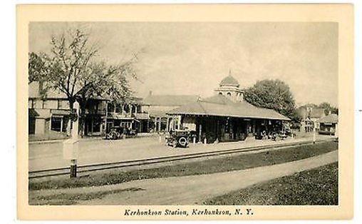 Kerhonkson-NY-OW-RAILROAD-STATION-1920s-
