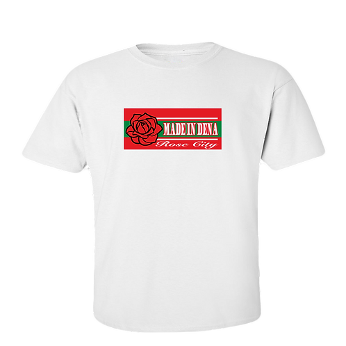 ROSE CITY (T Shirt & Red/Green Logo)