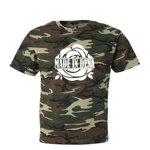 CAMO T SHIRT (WHITE ROSE)