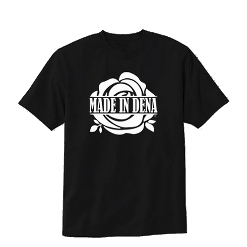 MADE IN DENA (T Shirt & White logo)