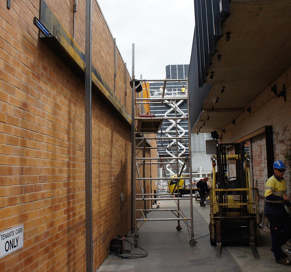 Alleyway in construction