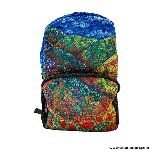 """""""Poppies"""" felt backpack"""