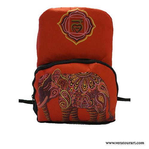 """Ruby Elephant"" felt backpack"