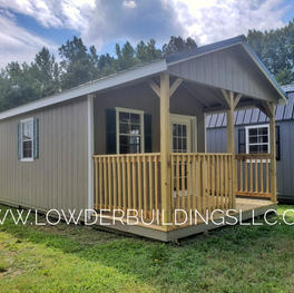 12x24 Deluxe Aframe Porch Building