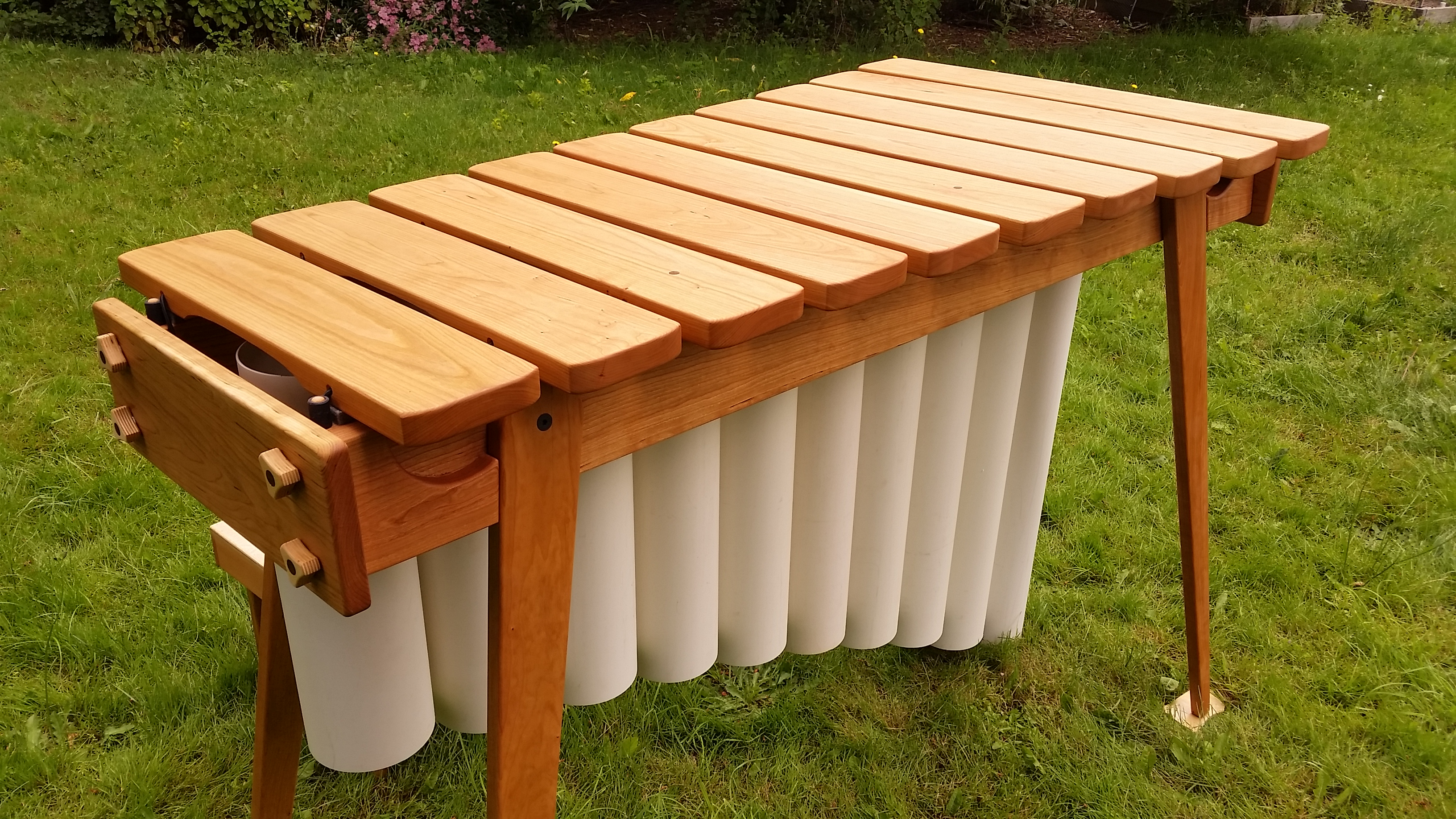 collapsible cherry bass marimba