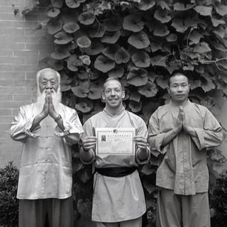 Shay with Shifu Shi Yan Jun