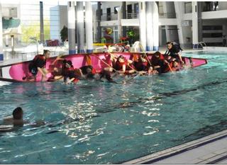 Matinée Dessalage-ressalage à la piscine du Thouet avec le 2ème Régiment de Dragons de Fontevraud!!!