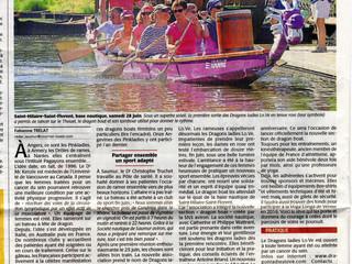 Un bel article dans le Courrier de l'Ouest 21/07/2015 !!! Merci à Fabienne !!!