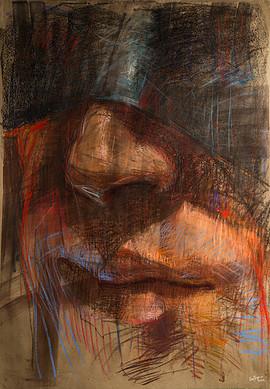 Serie Retratos 140x90 pastel sobre papel 2015