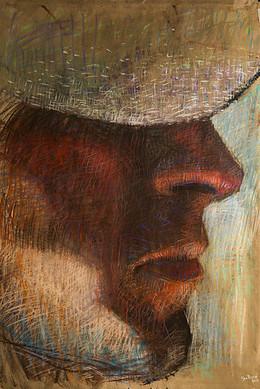 Serie Retratos 140 x 90 pastel sobre papel 2015