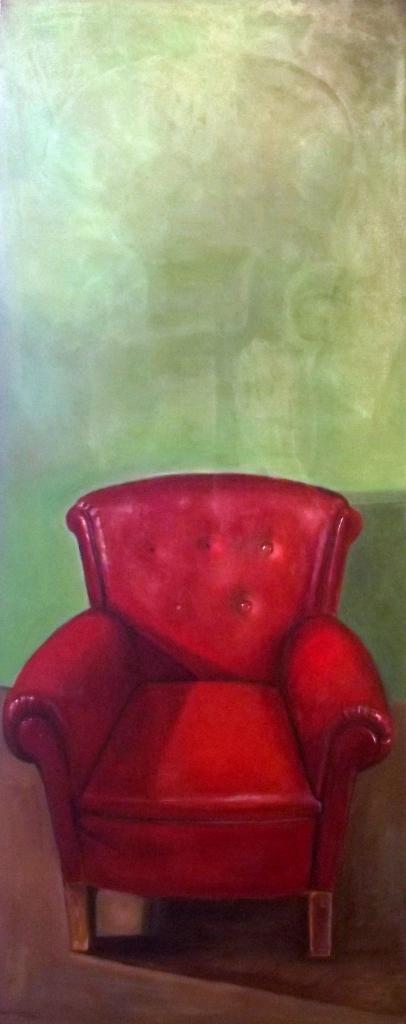 The red chair 170x80 oleo sobre tela