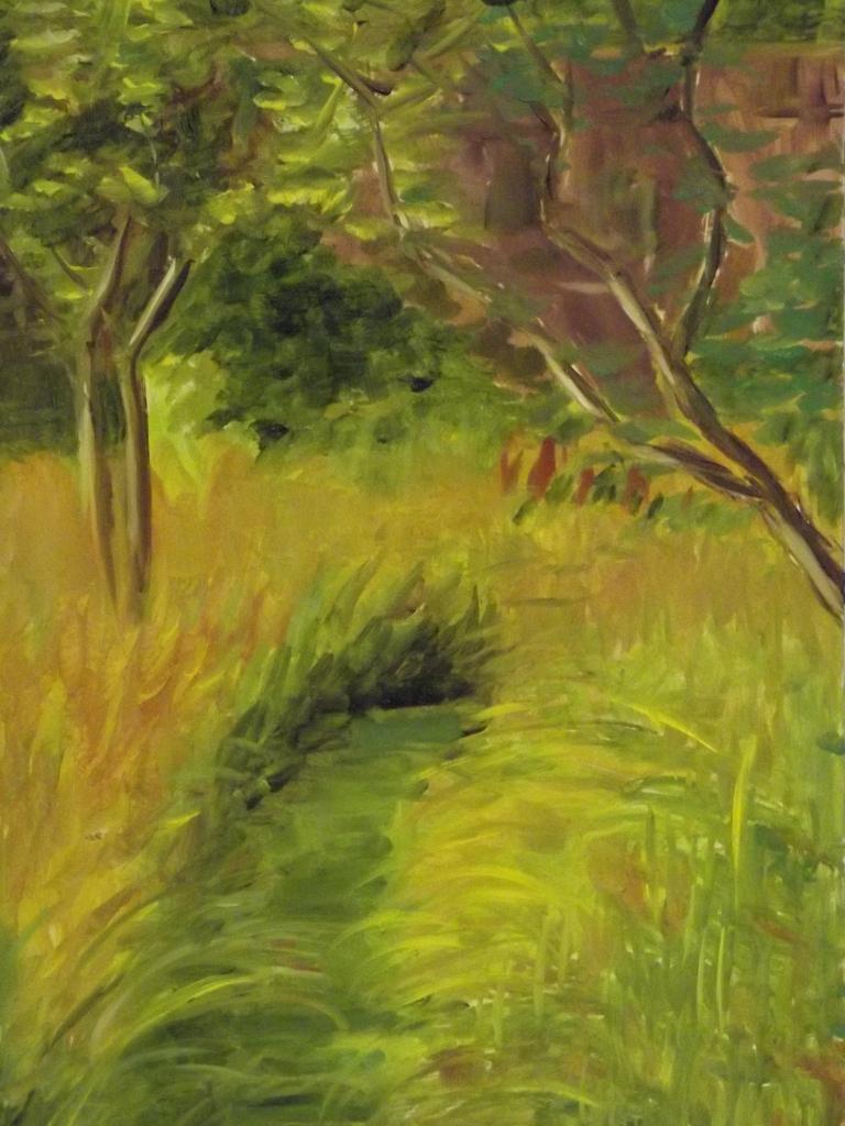The garden 40x26 oleo sobre foamboard
