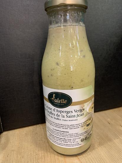 Crème d'asperges vertes aux truffes de laSaint-Jean