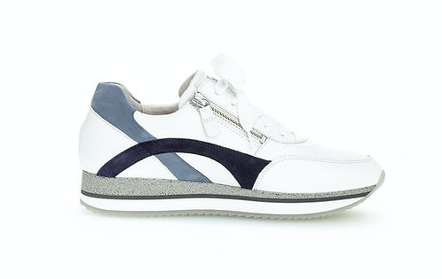 weiss blau Gabor Sneaker 63.440.26, Vorderansicht