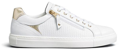 weisser NeroGiardini Sneaker, E010652D707, Seitenansicht