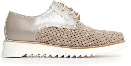beige NeroGiardini Sneaker, E115097D702, Seitenansicht