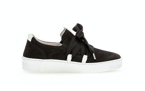 schwarzer Gabor Sneaker 63.333.17, Seitenansicht