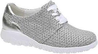 Waldläufer, weisse silber Sneaker Halbschuhe, Artikel 389006215150
