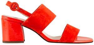 Högl, Sandalette rot, Artikel 9-105542/4200, Seitenansicht