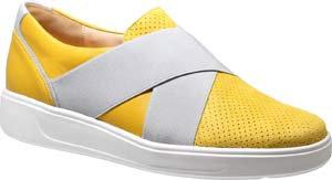 Ganter, gelb grauer Slipper, Artikel 9-203450/8460