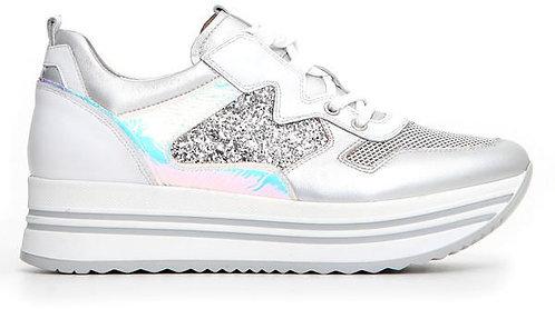 weisser NeroGiardini Sneaker, E115192D700, Seitenansicht