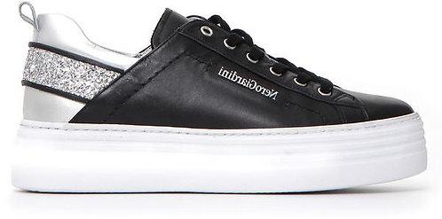 schwarzer NeroGiardini Sneaker, E115293D100, Seitenansicht