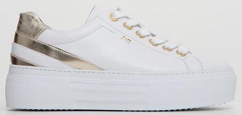 weisser NeroGiardini Sneaker, E115303D707, Seitenansicht