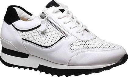 weiss schwarz Hassia Sneaker 1-301815/0601, Vorderansicht