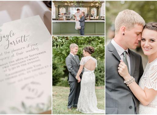 Gayle & Jarrett | Intimate Wedding | 9.26.20 | Kayla Bertke photography & design