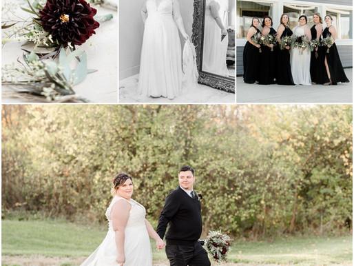 Allison & Kenny | Fall wedding | Gatherings at the green | Kayla Bertke photography & design
