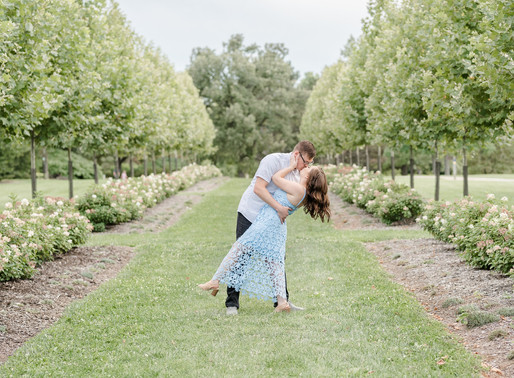 Anna and Tony | Cox Arboretum engagement session | Kayla Bertke photography & design