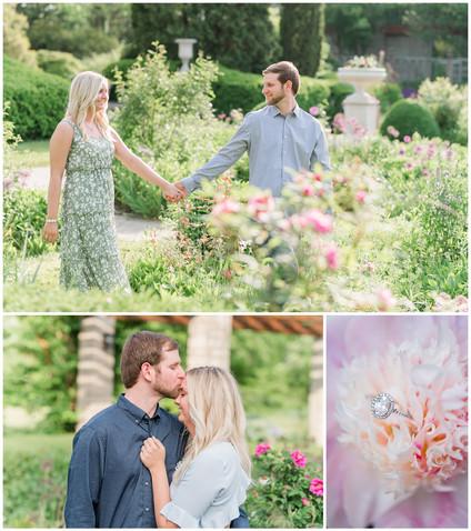 Amy and Chase   Wegerzyn Gardens Engagement session   Kayla Bertke photography & design