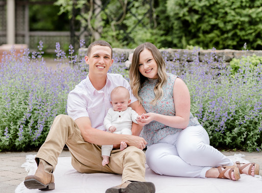 New family of three | Wegerzyn Gardens | Kayla Bertke photography & design