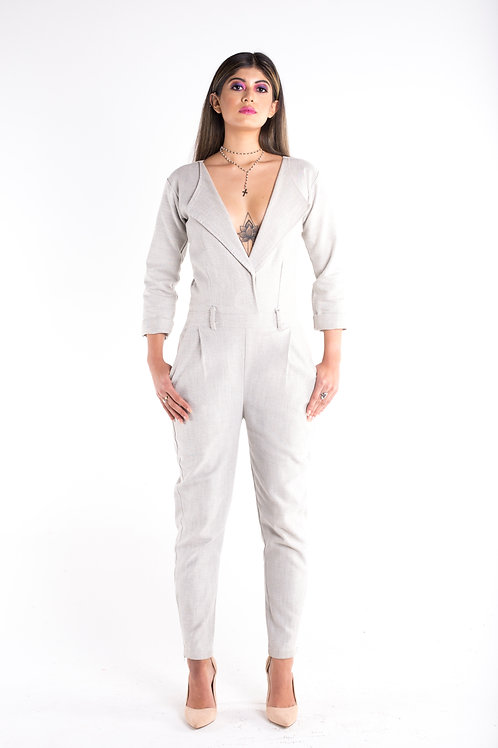 DUSTY DENIM JUMPSUIT