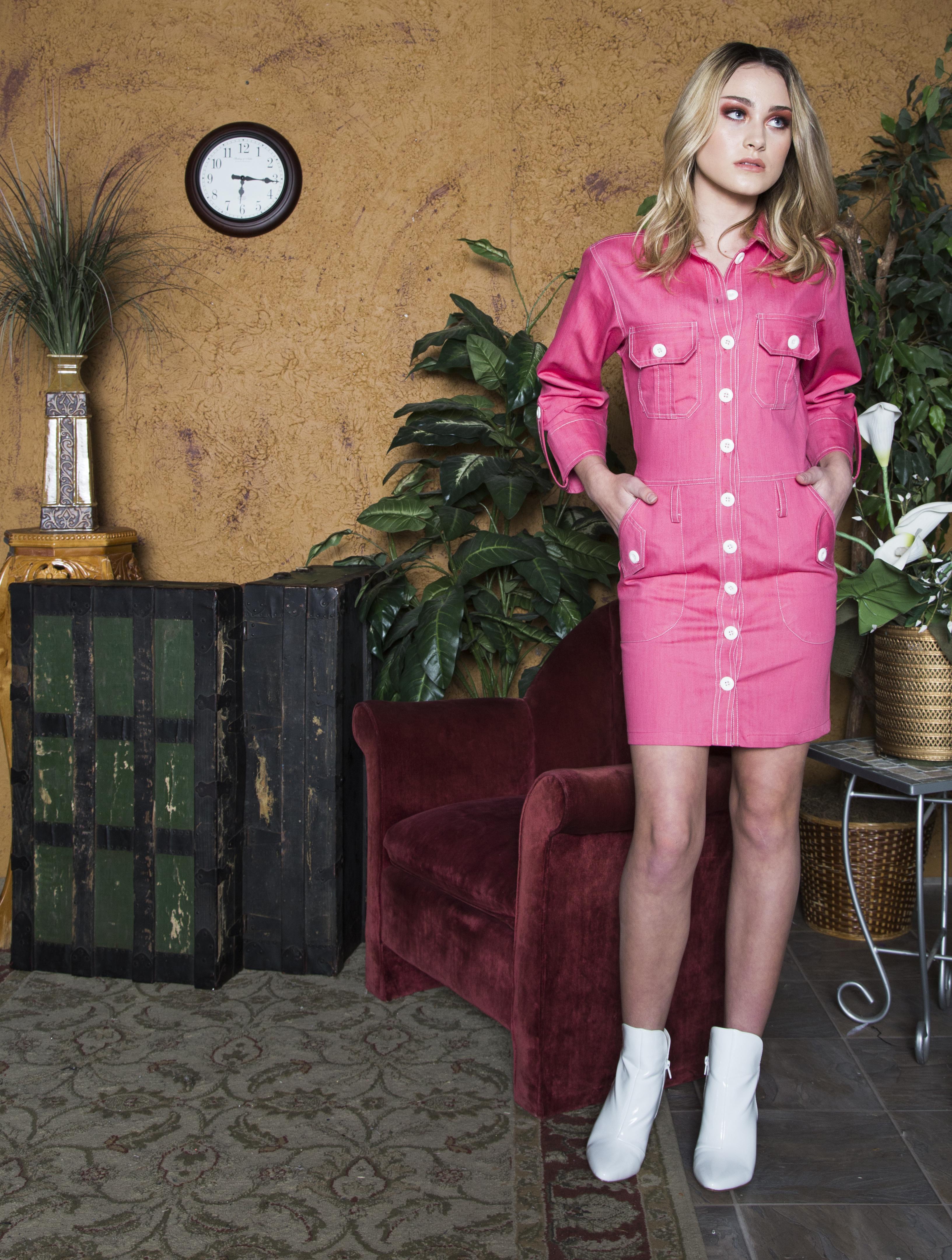 RUBY DENIM DRESS