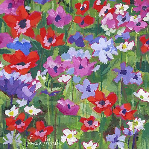 Anemone Meadow, high quality art print
