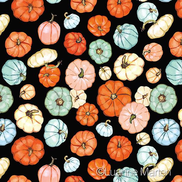 Multicolor pumpkin pattern ©Luanne Marten surface pattern designer