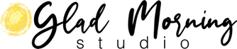 Art of Luanne Marten, logo for Glad Morning Studio Luanne Marten